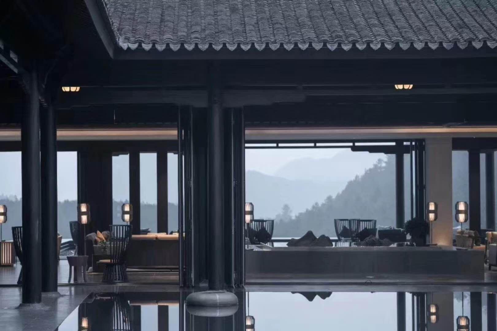 中式庭院折叠门工程(图1)