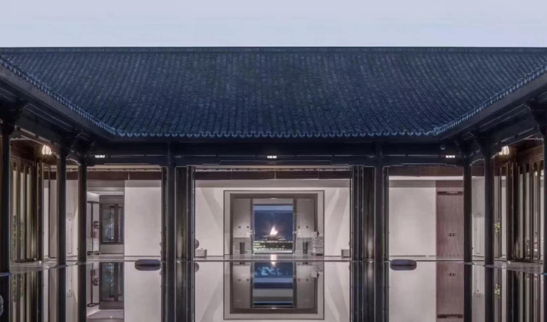 中式庭院折叠门工程(图3)